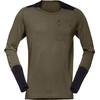 Norrøna Skibotn Wool Equaliser Long Sleeve Shirt Men Dark Olive